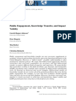 Public Engagement, Knowledge Transfer, And Impact Validity