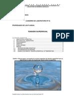 Laboratorio Tensión Superficial - Mecánica de Fluidos