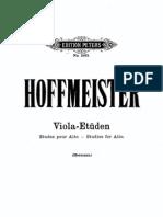 Hoffmeister - 12 Etudes for Viola