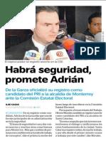 03-03-2015 Habrá seguridad,  promete Adrián