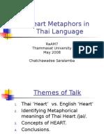 Heart Metaphors in Thai
