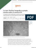 'Rosetta' Fotografía Su Propia Sombra
