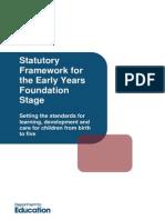 EYFS Statutory Framework 2012