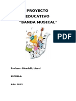 Proyecto Banda Musical 2015