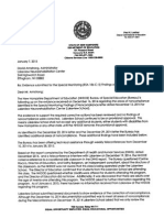 N.H. DOE Letter on Findings of Noncompliance 1/7/2015