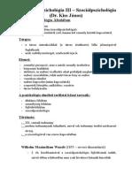 Pszichológia III. - Szociálpszichológia Órai Jegyzet (1)