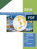Política Exterior Del Perú en El Campo de La Seguridad