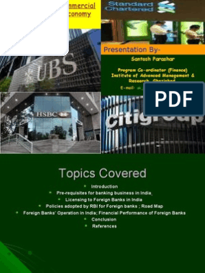 Role of Foreign Commercial Banks in Indian Economy | Reserve