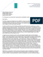 Maine DHHS Letter to Maine DRC Re Lakeview Dated 12/31/2014