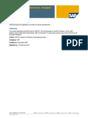 B1WS_SDNPage pdf | Internet Information Services | Component