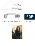Hermione Granger's Fact File