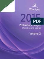Winnipeg preliminary budget — Vol. 2