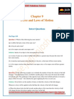CBSE CBSE Class 9 NCERT Solution Science Force Laws of Motion