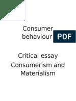 Consumer Behaviour Final
