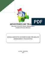 Reglamento Interno de Trabajo Dirigido y Pasantia MTEPS (1)