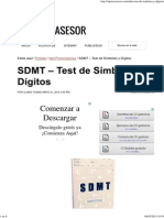 SDMT – Test de Símbolos y Dígitos