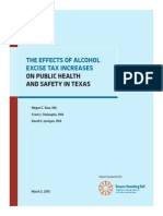 Alcohol Excise Tax Report