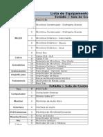 Lista de Equipamentos - GRUME