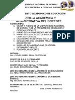 Cartilla Dpto. Académico de Educación