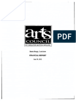 Arts Council of Baton Rouge audit 2012