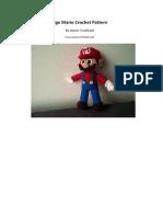 Patrón de tejido para Mario tamaño grande