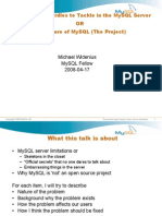The future of MySQL (The Project)