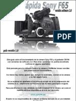 Guía Rápida Sony F65 SQ