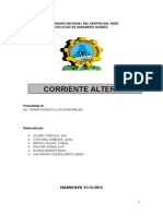 INFORME Corriente Alterna