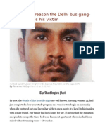 The Chilling Reason the Delhi Bus Gang-rapist Blames His Victim
