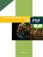 1.4 Teoría Del Valor, Precio, Costo