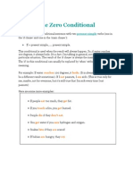 The Zero and First Conditionals