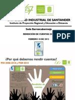 Informe Rendición de Cuentas 2014 Sede UIS Barrancabermeja