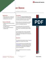 SLXX Separation Sleeve Technical Datasheet