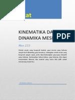 Diktat Kinematika Dan Dinamika Mesin