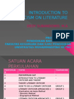 introduction to criticism on literature