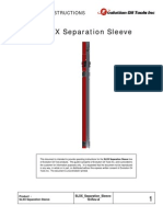 SLXX Separation Sleeve Operating Instructions
