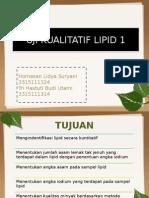 Uji Kualitatif Lipid 1