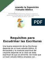 Perfeccionando El Estudio Bíblico