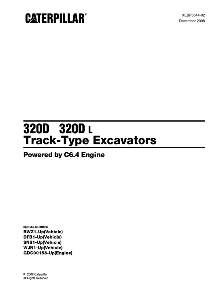 320D & DL Parts Manual | Air Conditioning | Engines