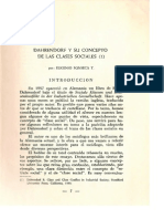 Dahrendorf y Su Concepto en Las Clases Sociales