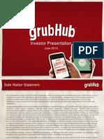 GrubHub Investor Deck June 2014