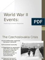 predicting responses to world war ii events