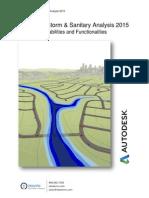 Autodesk Storm Sanitary Analysis 2015 Tech Capabilities