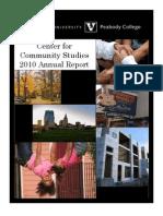 2010AnnualReport CenterForCommunityStudies Final