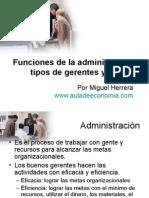 AG02-FUNCIONES DE LA ADMINISTRACIÓN, TIPOS DE GERENTES.ppt