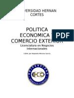 Politica Economica y Comercio Exterior