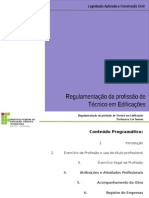 Aula 4 - Regulamentação Da Profissão de Técnico Em Edificações