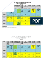 Jadual Waktu Prasekolah Tahun 2015