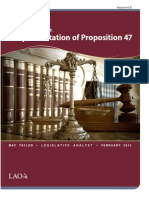 Attachment B - Implementation of Prop-47 Legislative Analyst Office Report Feb 2015