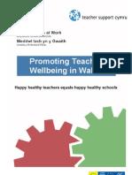 Promoting Teacher wellbeing in Wales